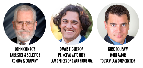 John Conroy, Omar Figueroa,Kirk Tousaw
